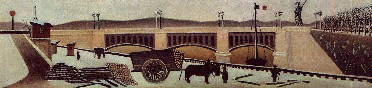 View of Grenelle Bridge 1891 | Henri Rousseau | Oil Painting