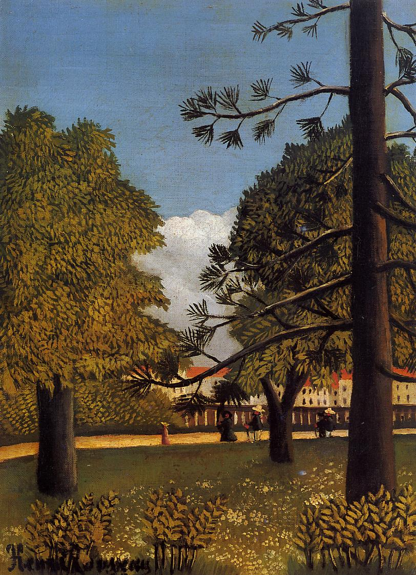 View of Parc de Montsouris 1894-1895 | Henri Rousseau | Oil Painting
