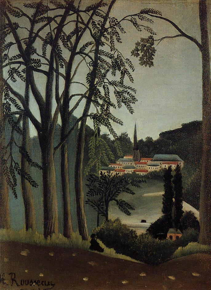 View of Saint Cloud 1909 | Henri Rousseau | Oil Painting