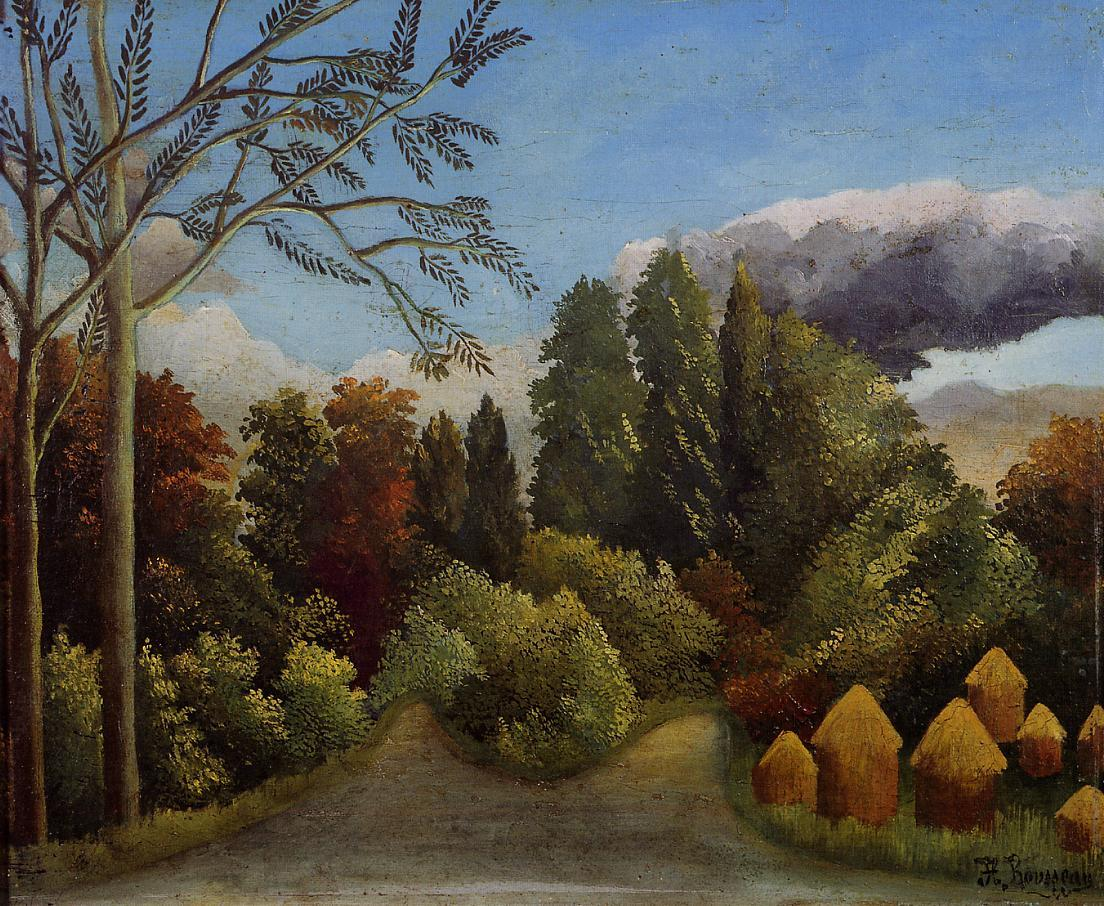 View of the Banks of the Oise 1905-1906 | Henri Rousseau | Oil Painting