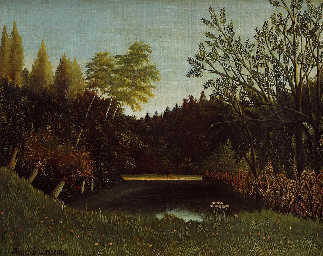 View of the Bois de Boulogne 1895-1896 | Henri Rousseau | Oil Painting