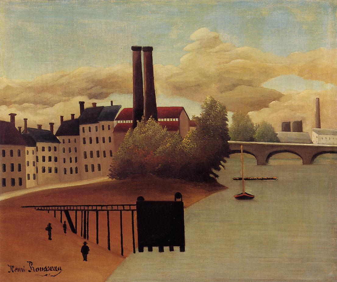 View of the Outskirts of Paris 1896 | Henri Rousseau | Oil Painting