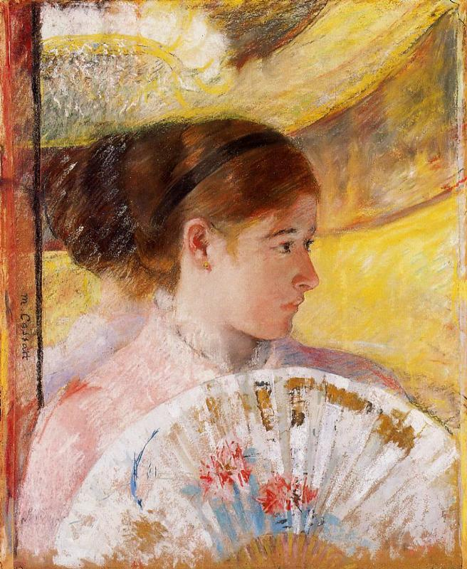 At the Theater 1878-1879 | Mary Cassatt | Oil Painting