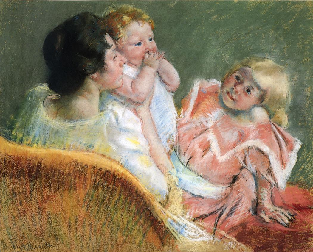 Mother and Children 1901 | Mary Cassatt | Oil Painting