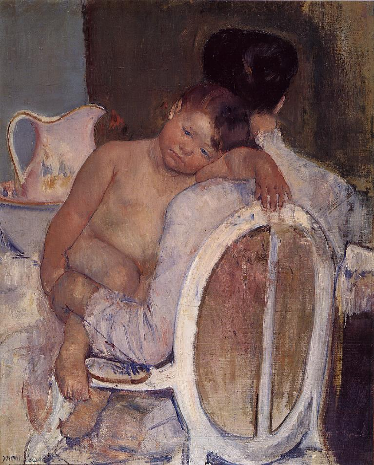 Mother Holding a Child in Her Arms 1890 | Mary Cassatt | Oil Painting