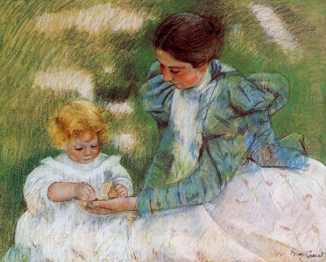 Mother Playing with Her Child 1899 | Mary Cassatt | Oil Painting