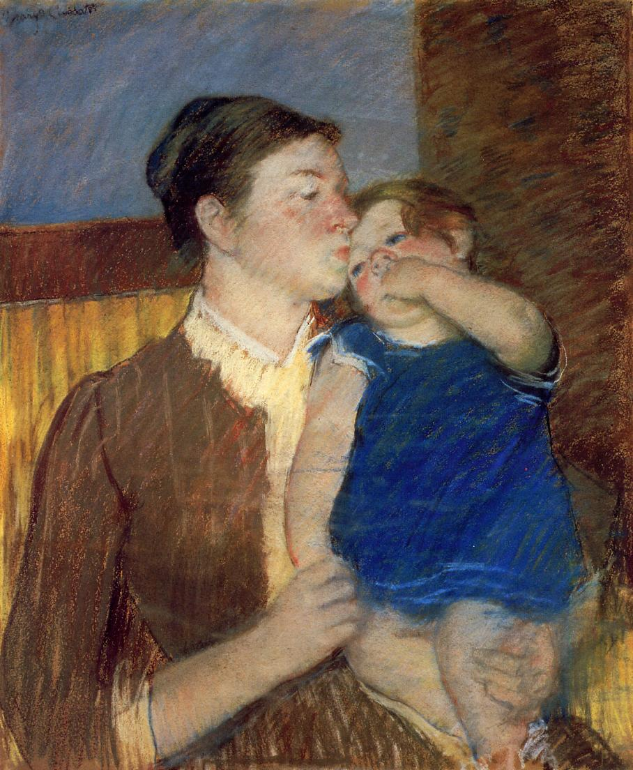 Mother's Goodnight Kiss 1888 | Mary Cassatt | Oil Painting