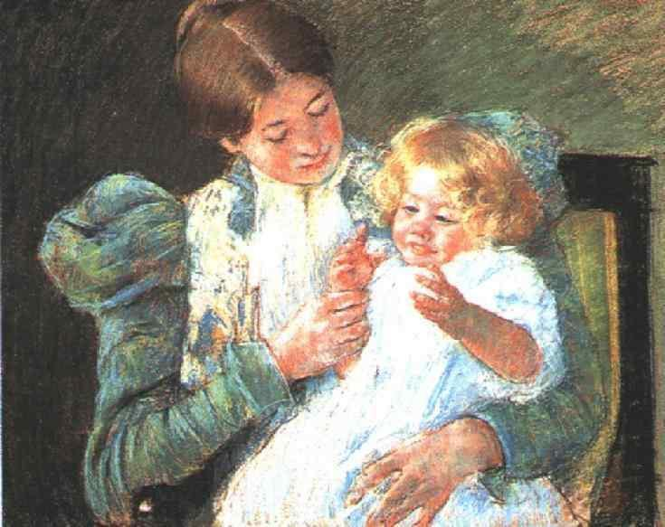 Pattycake 1897 | Mary Cassatt | Oil Painting