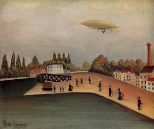 View of the Quai DOvry 1907 | Henri Rousseau | Oil Painting
