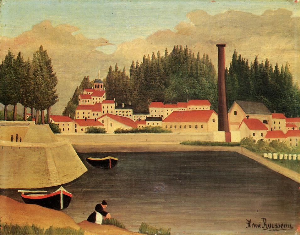 Village near a Factory 1907-1908 | Henri Rousseau | Oil Painting