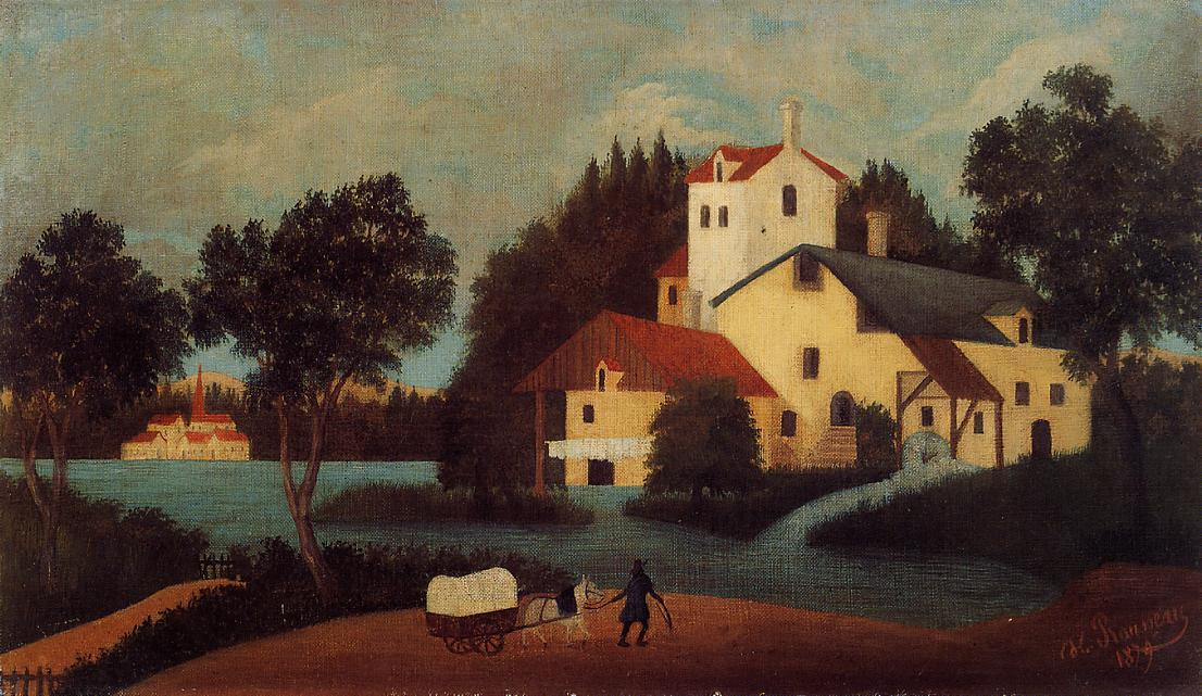 Wagon in Front of the Mill 1879 | Henri Rousseau | Oil Painting