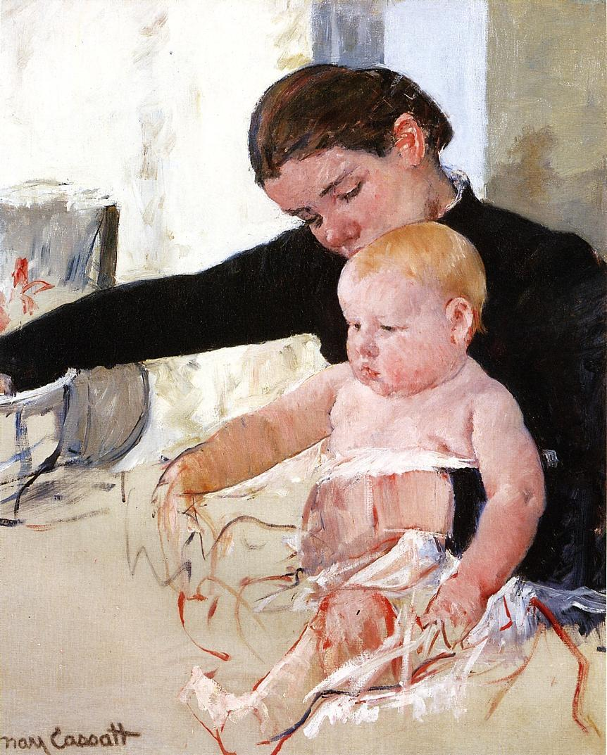 Bathing the Young Heir 1891 | Mary Cassatt | Oil Painting
