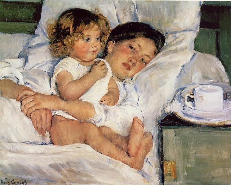 Breakfast in Bed 1897 | Mary Cassatt | Oil Painting
