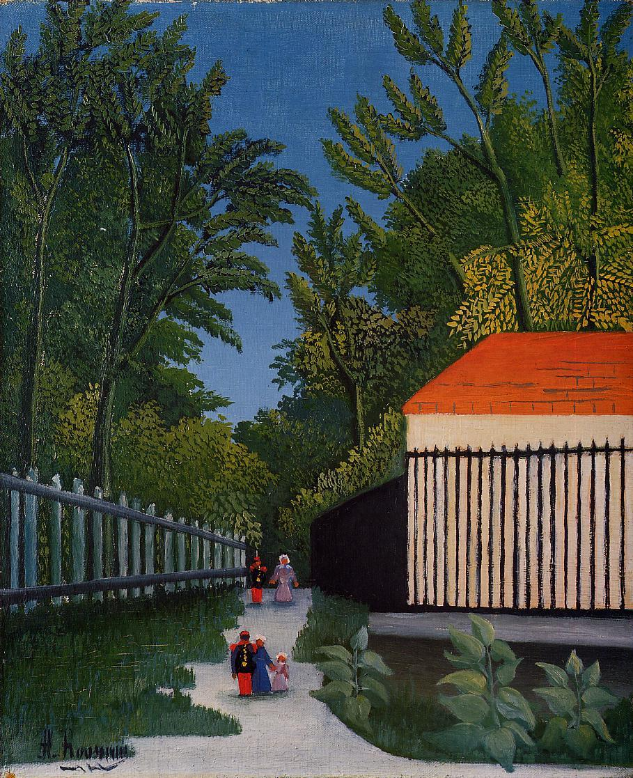 Walking in the Parc Montsouris 1909 | Henri Rousseau | Oil Painting