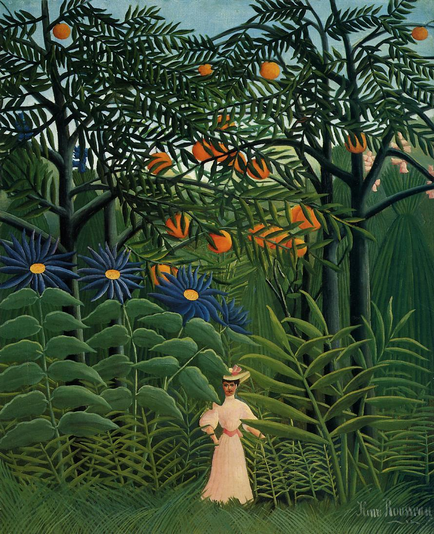 Woman Walking in an Exotic Forest 1908 | Henri Rousseau | Oil Painting