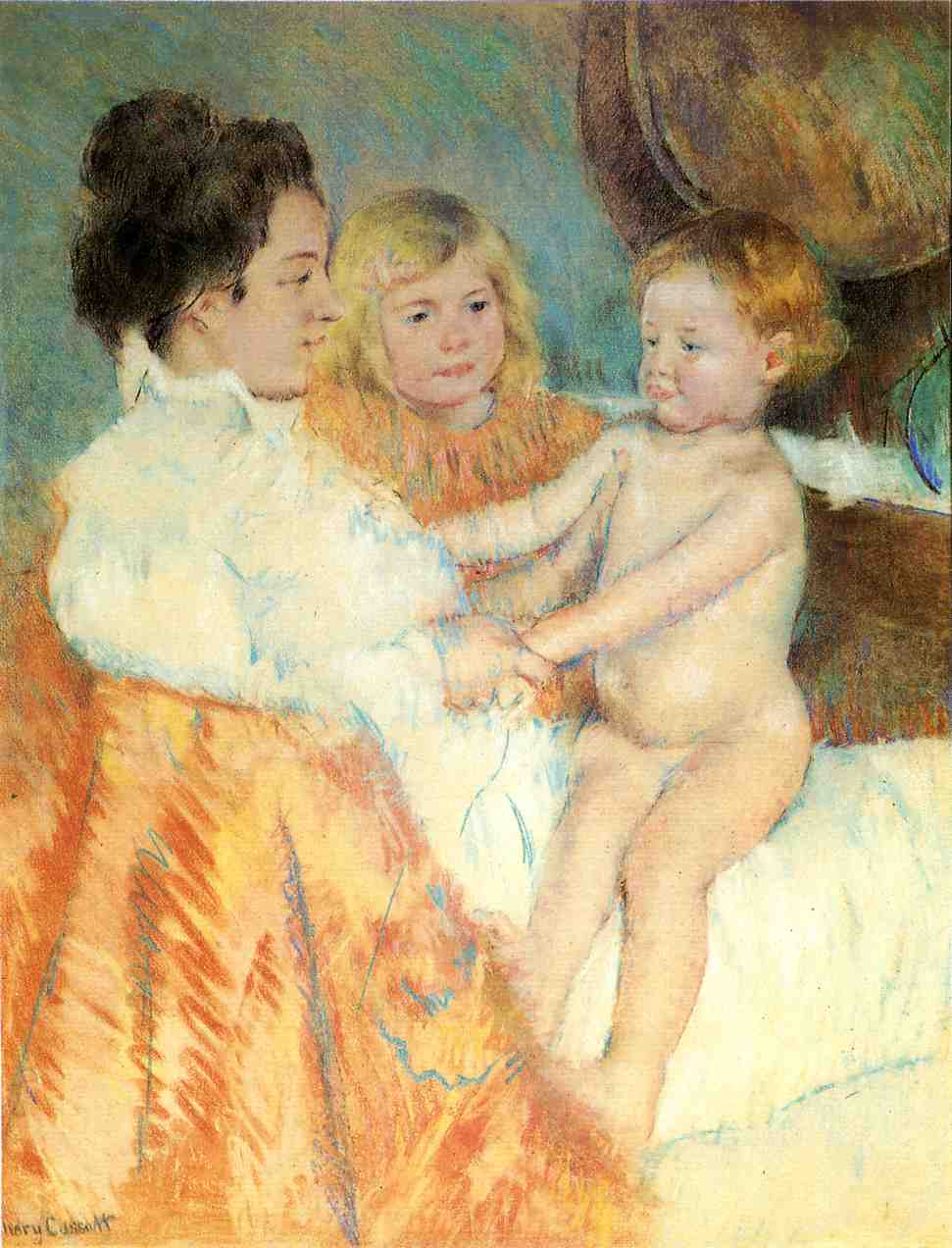 Mother Sara and the Baby (counterproof) 1901 | Mary Cassatt | Oil Painting