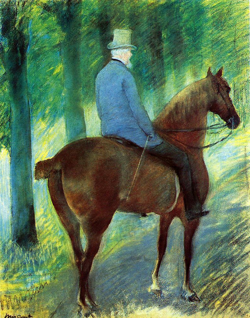 Mr. Robert S Cassatt on Horseback 1885 | Mary Cassatt | Oil Painting