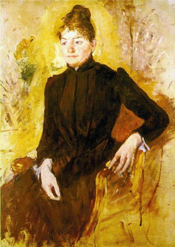 Woman in Black 1882 | Mary Cassatt | Oil Painting