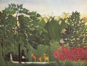 Waterfall | Henri Rousseau | Oil Painting