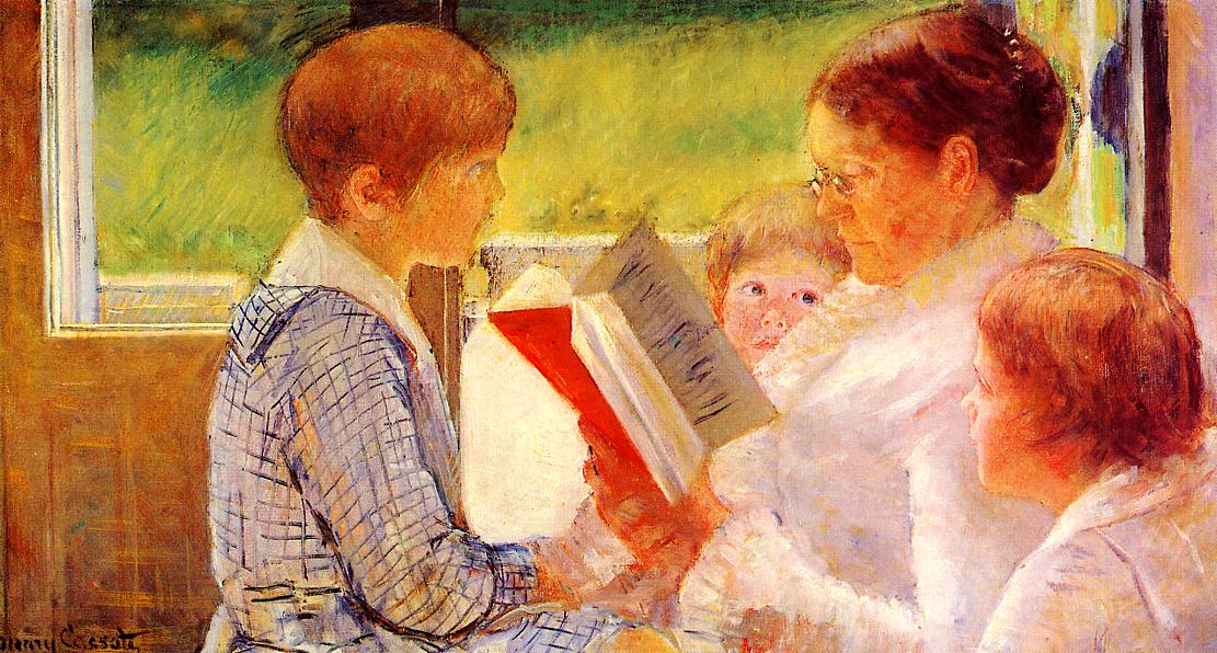 Mrs Cassatt Reading to Her Grandchildren 1880 | Mary Cassatt | Oil Painting