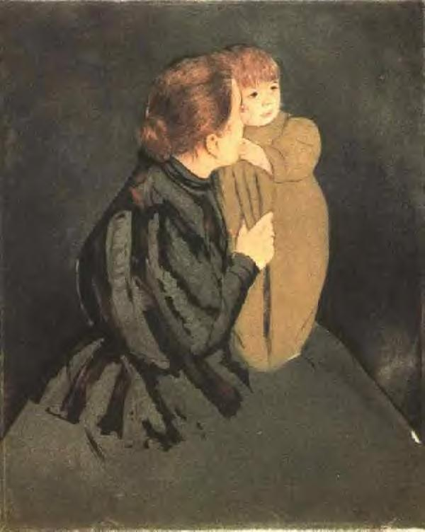 Peasant Mother and Child 1894 | Mary Cassatt | Oil Painting