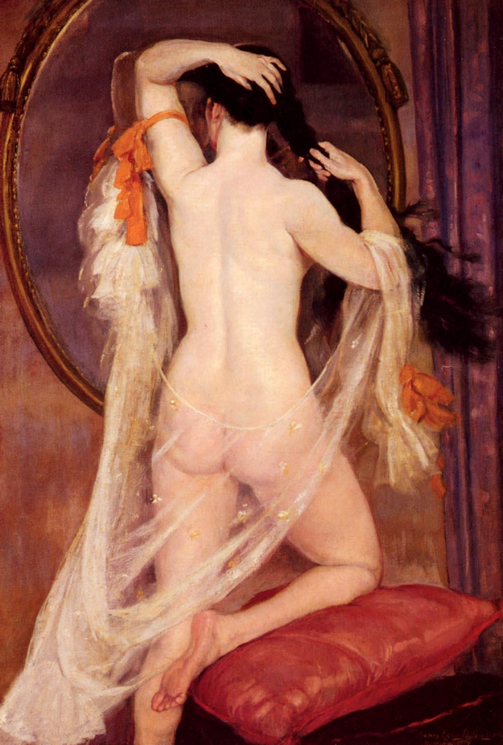 Nu Au Miroir | Henry Caro-Delvaille | Oil Painting