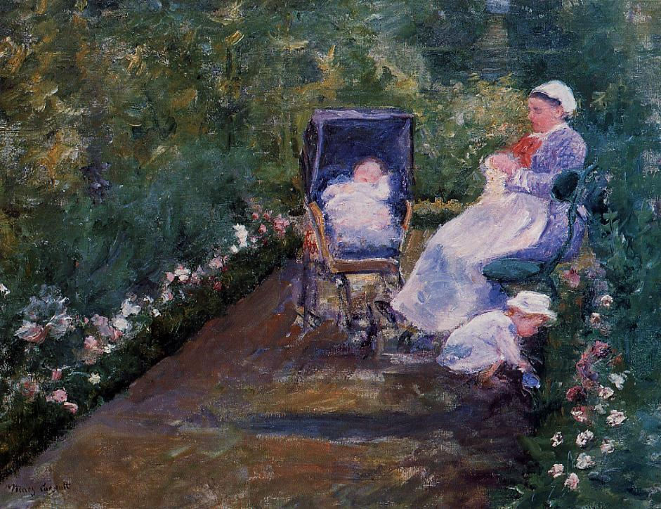 Children in a Garden 1878 | Mary Cassatt | Oil Painting