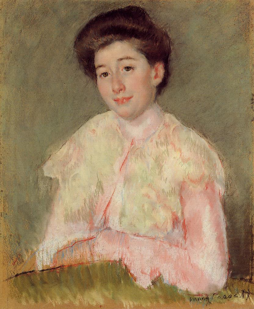 Portrait of a Lady 1890   Mary Cassatt   Oil Painting