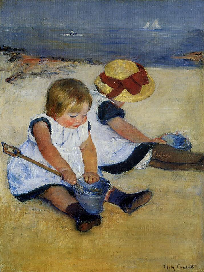 Children on the Shore 1885 | Mary Cassatt | Oil Painting