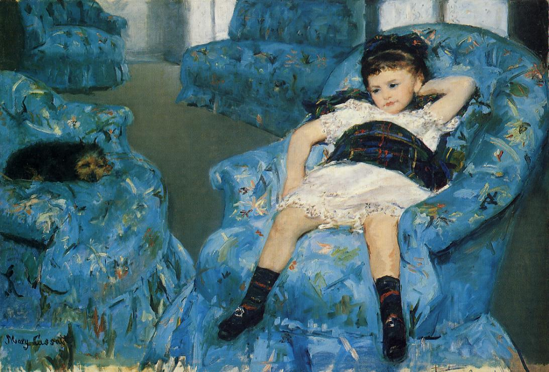 Portrait of a Little Girl 1878   Mary Cassatt   Oil Painting
