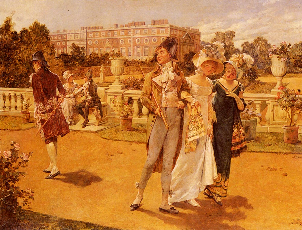 The Brave Deserve The Fair | Henry Gillard Glindoni | Oil Painting