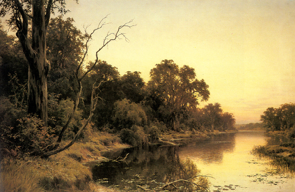 A Backwater Of The River Murray South Australia | Henry James Johnstone | Oil Painting