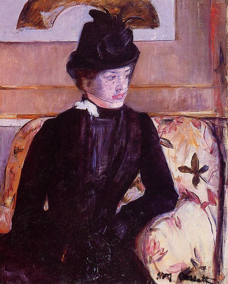 Mrs. Gardner Cassatt in Black 1880 | Mary Cassatt | Oil Painting