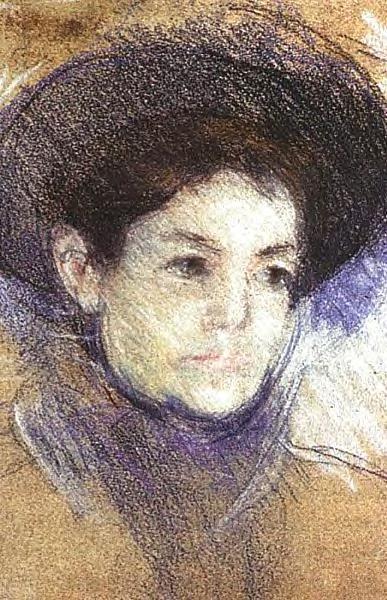 Portrait of a Woman 1890   Mary Cassatt   Oil Painting