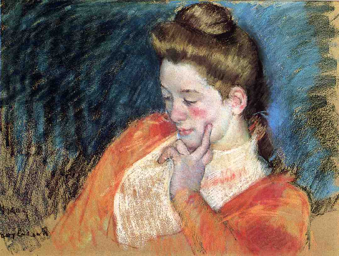 Portrait of a Young Woman 1898 | Mary Cassatt | Oil Painting
