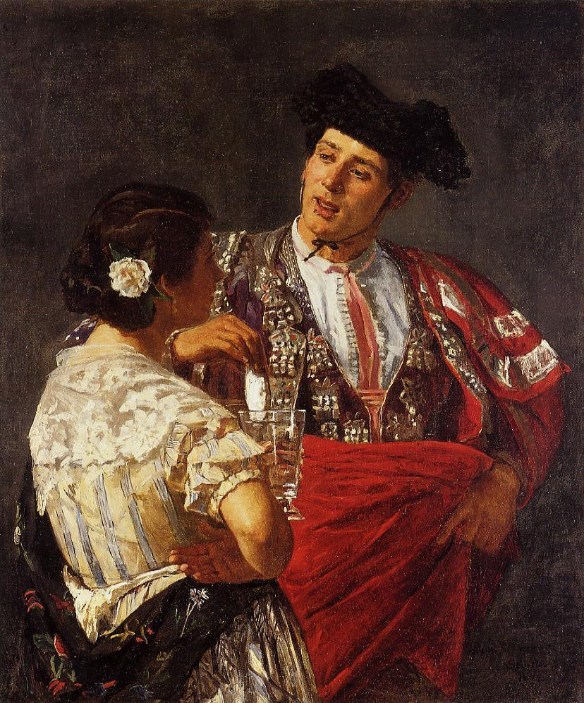 Offering the Panel to the Bullfighter 1872-1873 | Mary Cassatt | Oil Painting