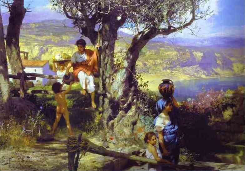 Ancient Rome In A Village 1880s | Henryk Hector Siemiradzki | Oil Painting