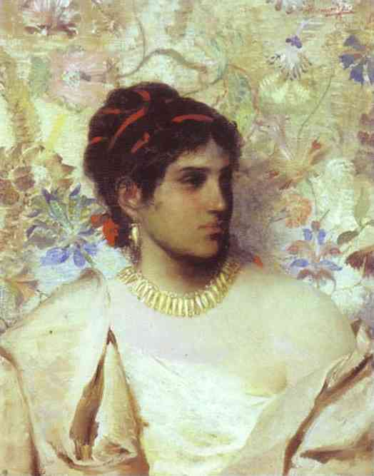 A Greek Woman 1877 | Henryk Hector Siemiradzki | Oil Painting