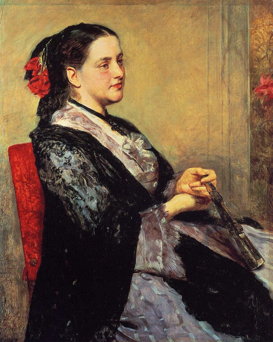 Portrait of a Lady of Seville 1873   Mary Cassatt   Oil Painting