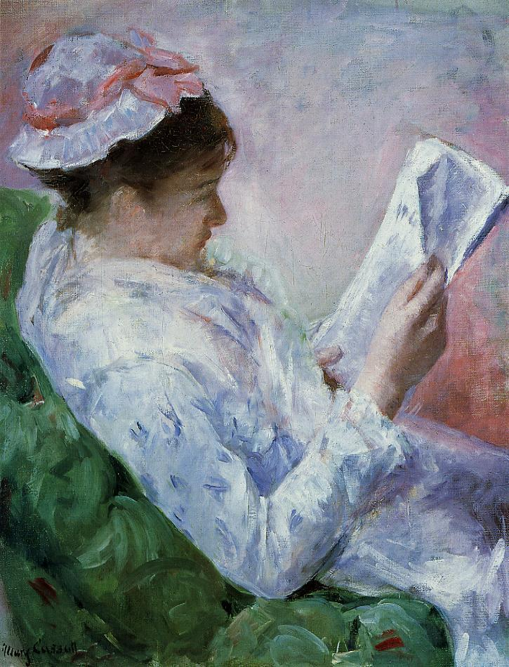 Woman Reading 1878-1879 | Mary Cassatt | Oil Painting