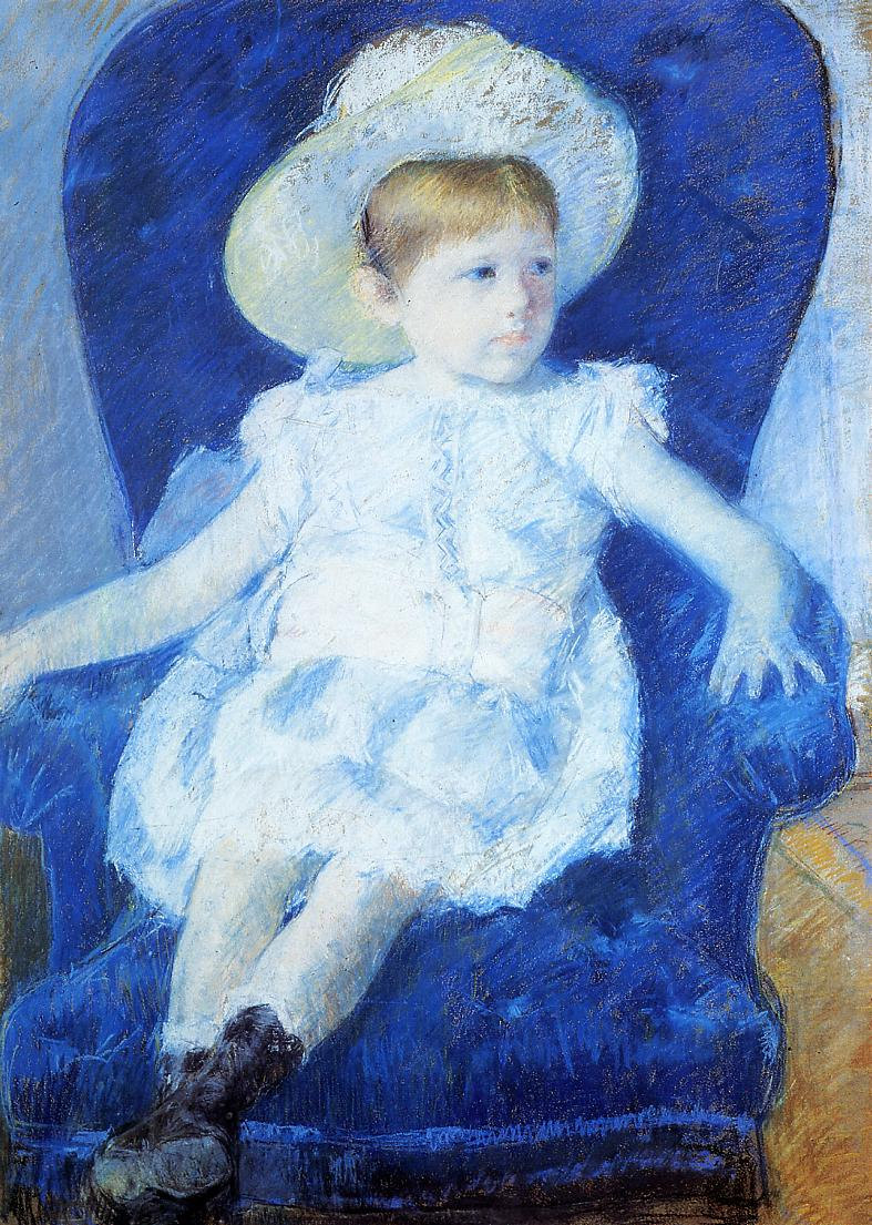 Elsie in a Blue Chair 1880 | Mary Cassatt | Oil Painting