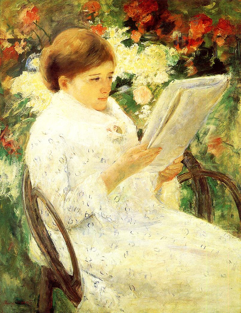 Woman Reading in a Garden 1880 | Mary Cassatt | Oil Painting