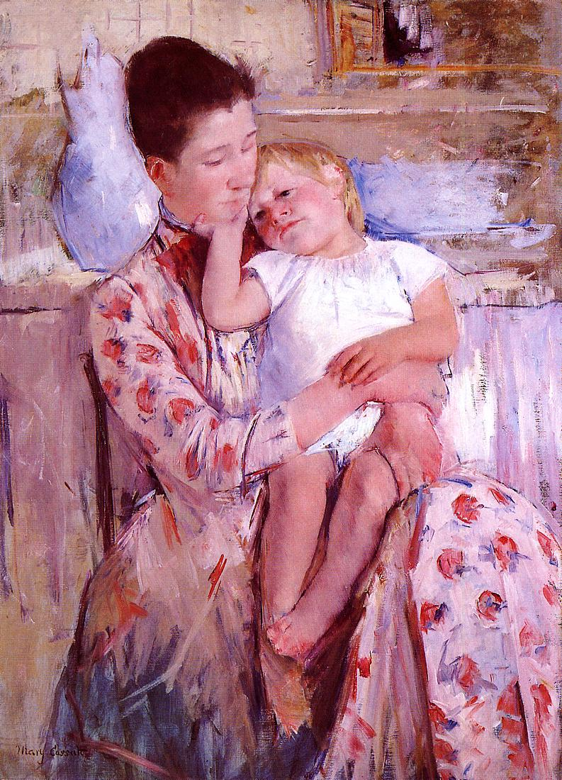 Emmie and Her Child 1889 | Mary Cassatt | Oil Painting