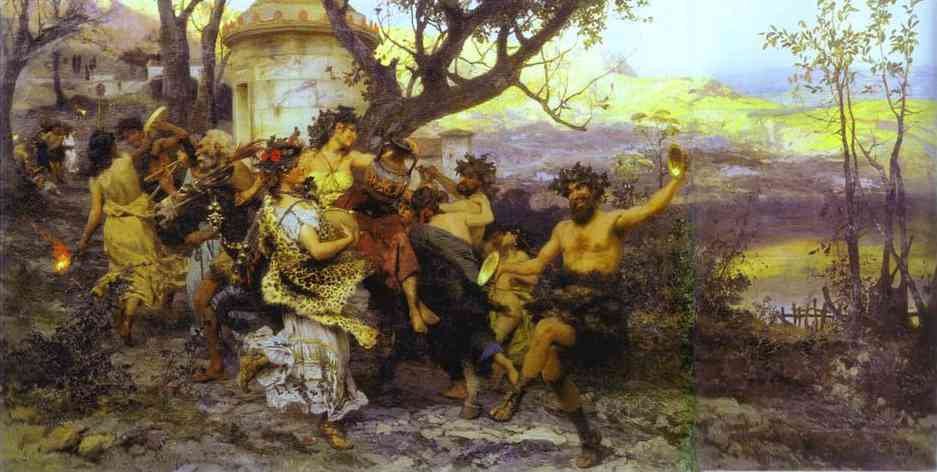 Bacchanalia 1890 | Henryk Hector Siemiradzki | Oil Painting