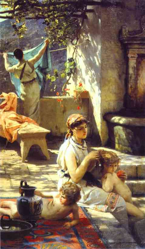 By A Pool 1895 | Henryk Hector Siemiradzki | Oil Painting