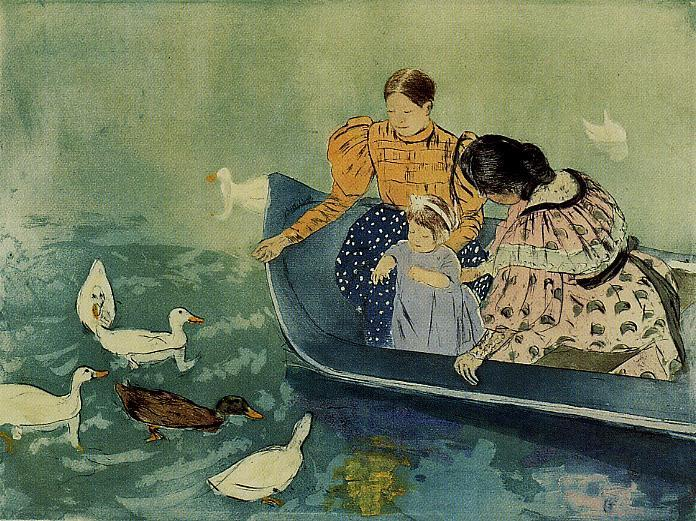 Feeding the Ducks 1895 | Mary Cassatt | Oil Painting