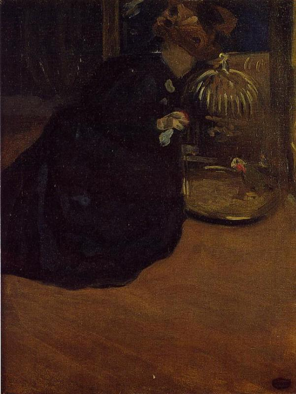 Woman with a Parakeet 1898-2 | Mary Cassatt | Oil Painting