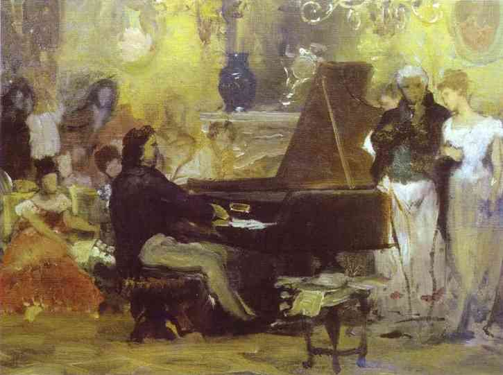 Chopin Performing In The Guest Hall 1887 | Henryk Hector Siemiradzki | Oil Painting