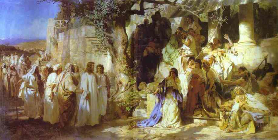 Christ And Sinner The First Meeting Of Christ And Mary Magdalene 1873 | Henryk Hector Siemiradzki | Oil Painting
