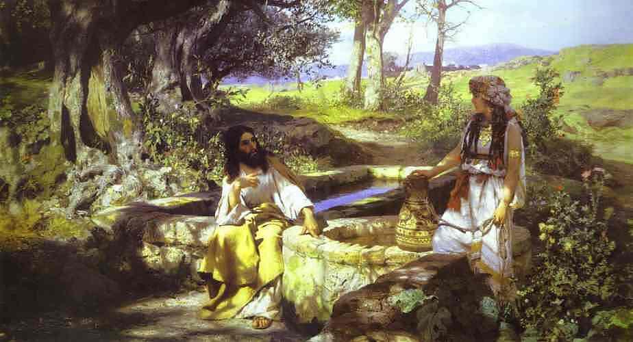 Christ And The Samaritan Woman 1890 | Henryk Hector Siemiradzki | Oil Painting
